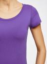 Футболка базовая из хлопка oodji для женщины (фиолетовый), 14701008B/46154/8300N