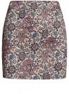 Юбка мини из хлопковой ткани oodji #SECTION_NAME# (разноцветный), 11601179-2B/14522/4175E