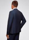 Пиджак приталенный с контрастной отделкой oodji #SECTION_NAME# (синий), 2L420248M/34941N/7900O - вид 3
