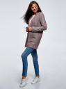Кардиган из фактурной ткани с накладными карманами oodji для женщины (розовый), 19201003/47208/4B12N