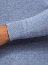 Джемпер базовый с круглым воротом oodji #SECTION_NAME# (синий), 4B112003M/34390N/7000O - вид 5