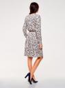 Платье вискозное с ремнем oodji #SECTION_NAME# (розовый), 21912001-2B/26346/4075F - вид 3