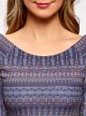 Платье облегающее с вырезом-лодочкой oodji #SECTION_NAME# (синий), 14017001-2B/37809/796CE - вид 4
