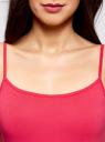 Майка женская (упаковка 2 шт) oodji #SECTION_NAME# (розовый), 14305023T2/46147/4D00N - вид 4