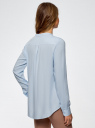 Блузка вискозная А-образного силуэта oodji #SECTION_NAME# (синий), 21411113B/26346/7002N - вид 3