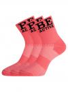 Комплект из трех пар спортивных носков oodji #SECTION_NAME# (розовый), 57102811T3/48022/4 - вид 2