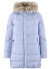 Куртка с воротником из искусственного меха oodji для женщины (синий), 10210002-1/46266/7500N