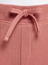 Брюки домашние на завязках oodji #SECTION_NAME# (розовый), 59807063/48828N/4B00N - вид 4