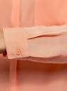 Блузка свободного силуэта с декоративными пуговицами на спине oodji #SECTION_NAME# (розовый), 11401275/24681/5400N - вид 5
