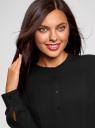 Блузка вискозная А-образного силуэта oodji для женщины (черный), 21411113B/42540/2900N