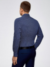 Рубашка базовая из хлопка  oodji для мужчины (синий), 3B110026M/19370N/7970G - вид 3