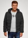 Куртка утепленная с капюшоном oodji #SECTION_NAME# (черный), 1B112006M-1/39877N/2900N - вид 2
