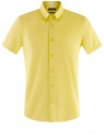 Рубашка базовая с коротким рукавом oodji #SECTION_NAME# (желтый), 3B240000M/34146N/5200N