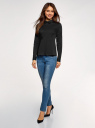Блузка хлопковая с баской oodji #SECTION_NAME# (черный), 13K00001-1B/42083/2900N - вид 6