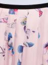 Юбка в складку с запахом oodji #SECTION_NAME# (розовый), 13G00003B/42662/4079U - вид 4