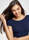 Платье миди с вырезом на спине oodji #SECTION_NAME# (синий), 24001104-5B/47420/7900N - вид 4