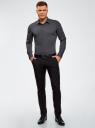 Рубашка базовая приталенная oodji #SECTION_NAME# (серый), 3B140000M/34146N/2500N - вид 6