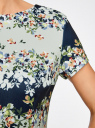 Платье на молнии приталенное oodji #SECTION_NAME# (синий), 24011019-1/45344/7930F - вид 5