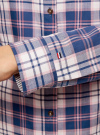 Рубашка принтованная хлопковая oodji #SECTION_NAME# (синий), 11406019/43593/7540C - вид 5