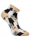 Комплект из трех пар хлопковых носков oodji для женщины (разноцветный), 57102418-5T3/48418/1