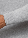 Свитер базовый из хлопка oodji для мужчины (серый), 4B312003M-1/34390N/2302M - вид 5