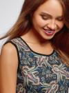 Платье трикотажное облегающего силуэта oodji #SECTION_NAME# (черный), 24005126-2/18610/2952F - вид 4