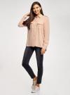 Блузка вискозная с нагрудными карманами oodji #SECTION_NAME# (розовый), 11411127-1B/42807/4B00N - вид 6