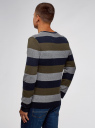 Джемпер прямого силуэта в полоску oodji для мужчины (разноцветный), 4L112206M/25255N/7966S