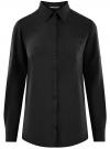 Блузка с нагрудными карманами и регулировкой длины рукава oodji #SECTION_NAME# (черный), 11400355-9B/42807/2900N