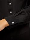 Рубашка хлопковая свободного силуэта oodji #SECTION_NAME# (черный), 11411101B/45561/2900N - вид 5
