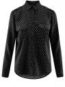 Блузка базовая из вискозы с нагрудными карманами oodji #SECTION_NAME# (черный), 11411127B/26346/2912G