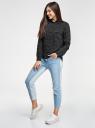 Блузка базовая из вискозы с нагрудными карманами oodji #SECTION_NAME# (черный), 11411127B/26346/2912G - вид 6