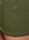Комплект трикотажных юбок (3 штуки) oodji #SECTION_NAME# (зеленый), 14101001T3/46159/6900N - вид 5