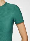 Платье трикотажное с коротким рукавом oodji для женщины (зеленый), 14011007/45262/6E00N - вид 5