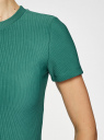 Платье трикотажное с коротким рукавом oodji #SECTION_NAME# (зеленый), 14011007/45262/6E00N - вид 5