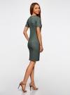 Платье в рубчик oodji #SECTION_NAME# (зеленый), 14011031/47349/6923N - вид 3