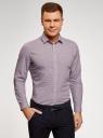 Рубашка приталенная из хлопка oodji #SECTION_NAME# (розовый), 3L110356M/44425N/1045G - вид 2
