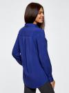 Блузка базовая из вискозы с карманами oodji #SECTION_NAME# (синий), 11400355-4/26346/7500N - вид 3