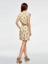 Платье вискозное без рукавов oodji #SECTION_NAME# (желтый), 11910073B/26346/5052F - вид 3