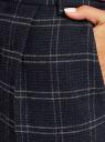 Брюки зауженные с защипами oodji для женщины (синий), 11701052/47262/7925C