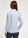 Рубашка прямого силуэта с потайной застежкой oodji для женщины (синий), 21411066B/42083/7000N - вид 3