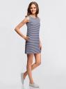 Платье из ткани пике oodji #SECTION_NAME# (синий), 14005074-1B/46149/7910S - вид 6