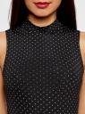 Платье облегающего силуэта с воротником-стойкой oodji #SECTION_NAME# (черный), 14005138-3B/46943/2912D - вид 4