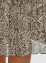 Юбка миди плиссированная oodji для женщины (серый), 21606019-1/17358/2520A
