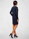 Платье трикотажное с декоративными молниями на плечах oodji #SECTION_NAME# (синий), 24007026/37809/7900N - вид 3