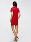Платье из искусственной замши с завязками oodji #SECTION_NAME# (красный), 18L00001/45778/4500N - вид 3