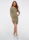 Платье трикотажное базовое oodji для женщины (зеленый), 14001071-2B/46148/6630S - вид 6