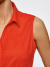 Рубашка базовая без рукавов oodji #SECTION_NAME# (красный), 11405063-6/45510/4500N - вид 5