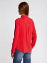 Блузка базовая из вискозы oodji для женщины (красный), 11411136B/26346/4500N