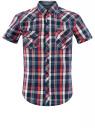 Рубашка клетчатая с нагрудными карманами oodji #SECTION_NAME# (разноцветный), 3L410118M/34319N/7541C